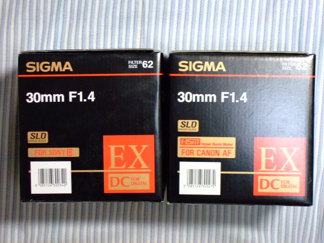 SIGMA 30mm F1.4 αマウント