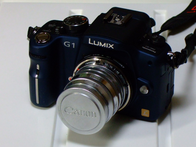CANON LENDS 50mm f:1.8  with Panasonic DMC-G1