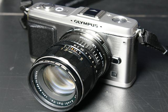 Super-Takumar 55mm F1.8 with E-P1