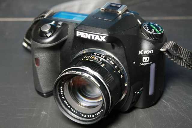 Super-Takumar 55mm F1.8 with K100D Super