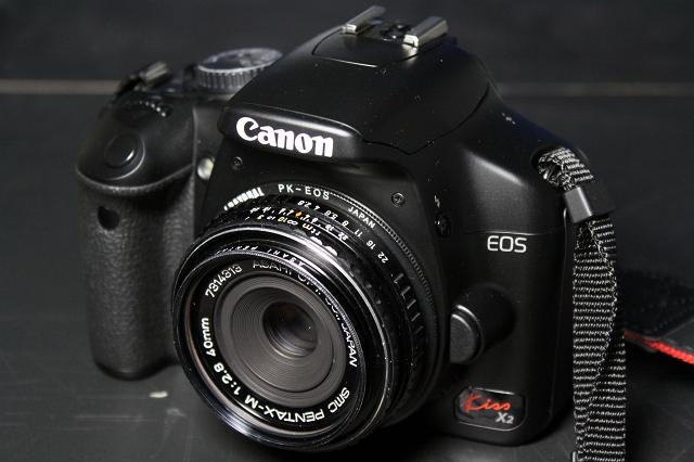 smc PENTAX-M 40mm F2.8 with EOS Kiss X2