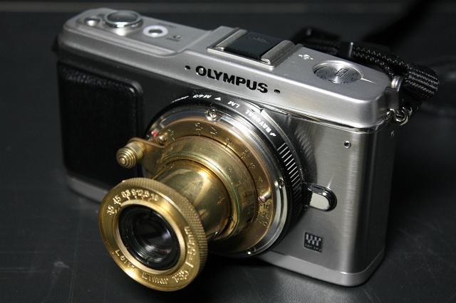 Leitz Elmar 50mm f3.5 コピー with E-P1