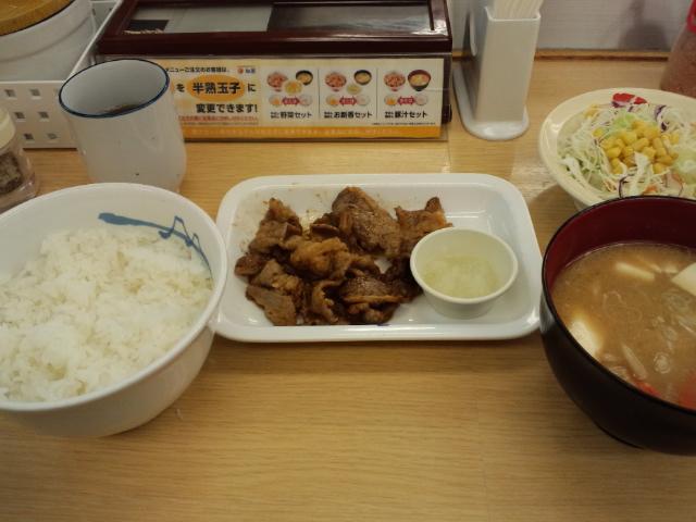 カルビ焼肉定食☆