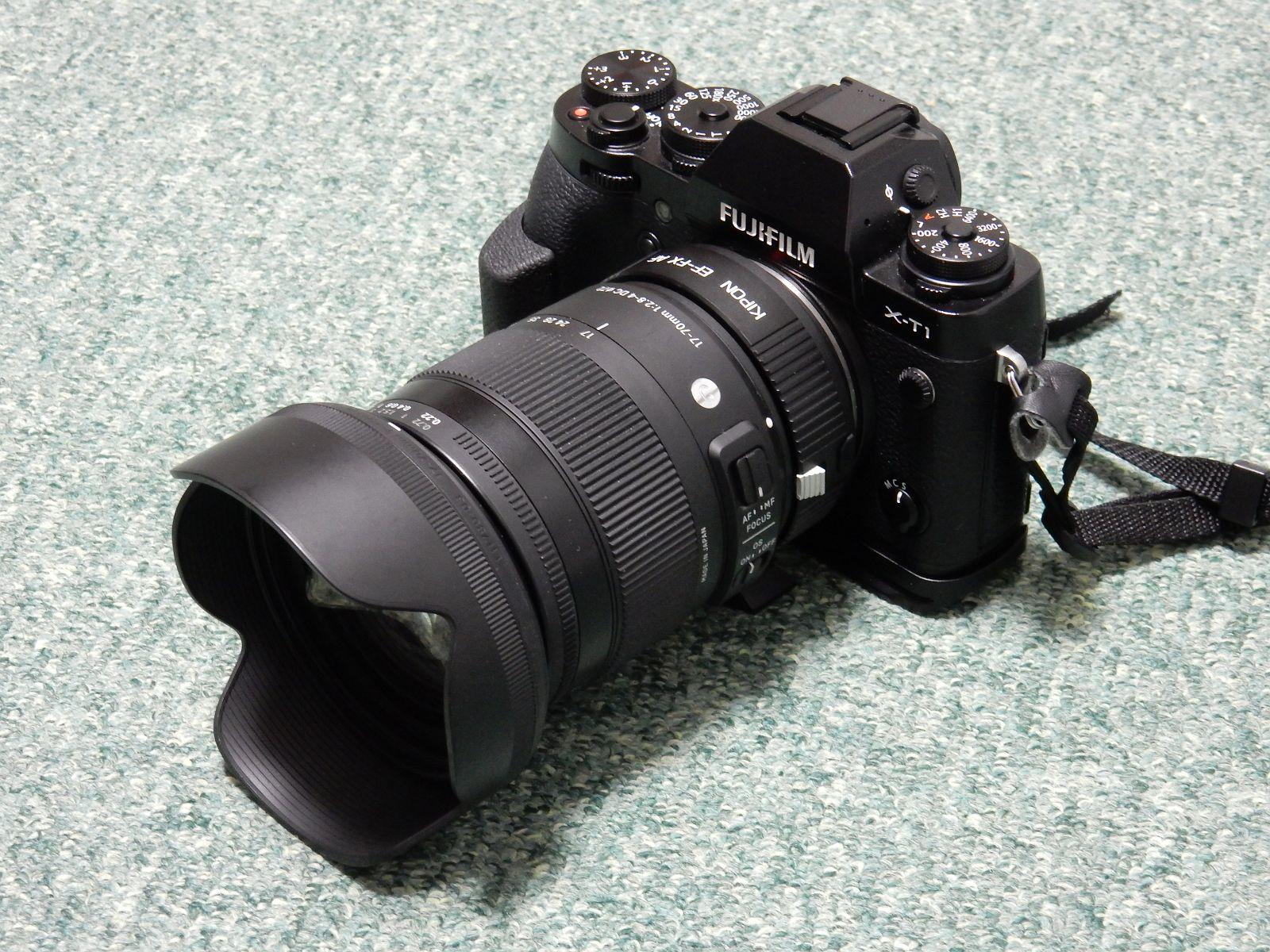 SIGMA 17-70mm F2.8-4 DC MACRO OS HSM + KIPON EF-FX AF with X-T1